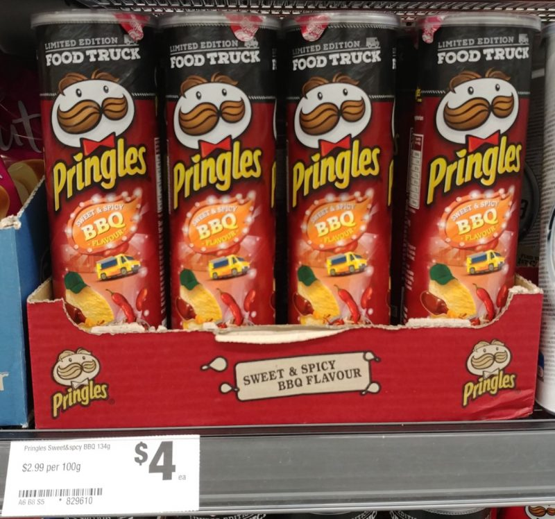 Pringles 134g Sweet & Spicy BBQ Flavour Limited Edition Food Truck