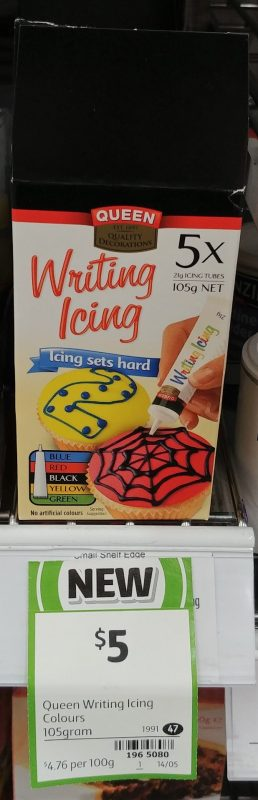 Queen 105g Icing Writing
