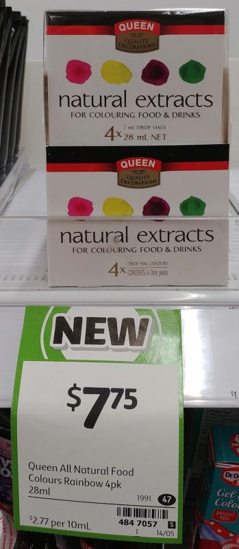 Queen 28mL Natural Extracts Colouring Food & Drinks