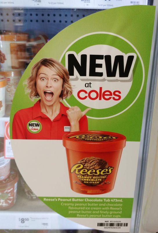 Reese's 473mL Ice Cream Peanut Butter Chocolate New Girl Jenny