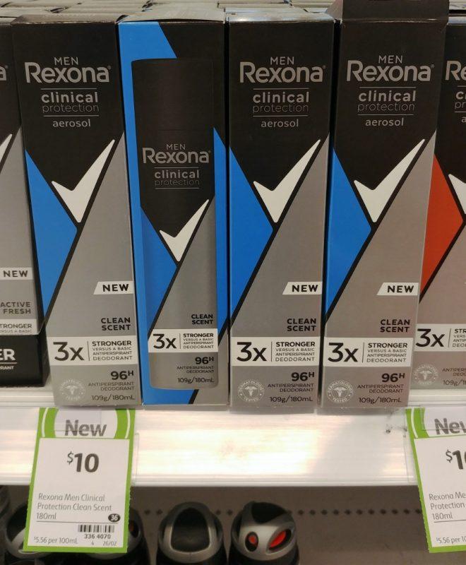 Rexona 180mL Antiperspirant Deodorant Men Clinical Protection Clean Scent