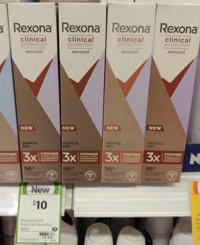 Rexona 180mL Antiperspirant Deodorant Men Clinical Protection Gentle Dry