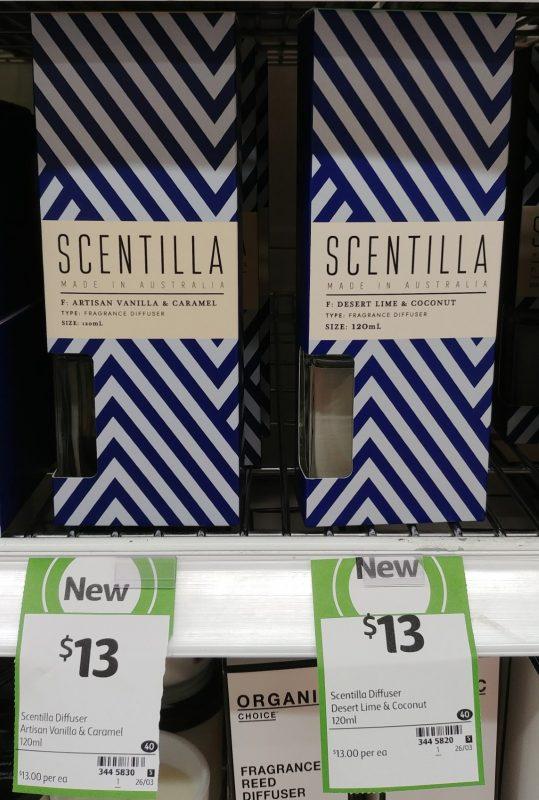 Scentilla 120mL Fragrance Diffuser Artisan Vanilla & Caramel, Desert Lime & Coconut
