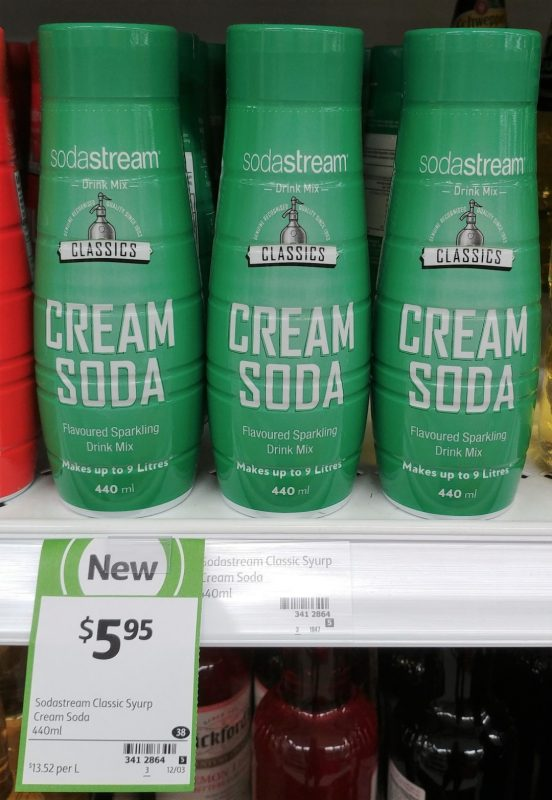 Soda Stream 440mL Drink Mix Cream Soda