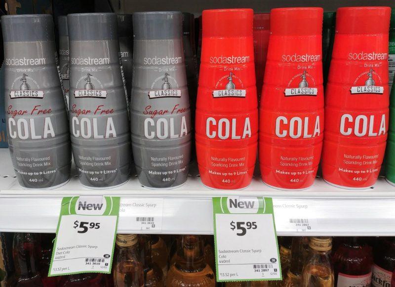 Soda Stream 440mL Drink Mix Sugar Free Cola, Cola