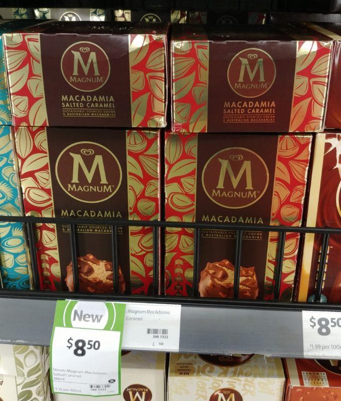 Streets 388mL Magnum Macadamia Salted Caramel