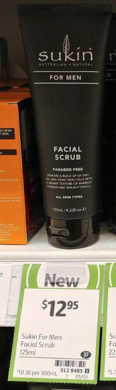 Sukin 125mL For Men Facial Scrub