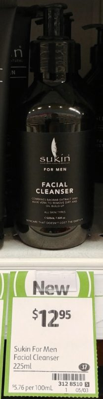 Sukin 225mL For Men Facial Cleanser