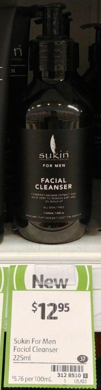 Sukin 225mL For Men Facial Cleanser