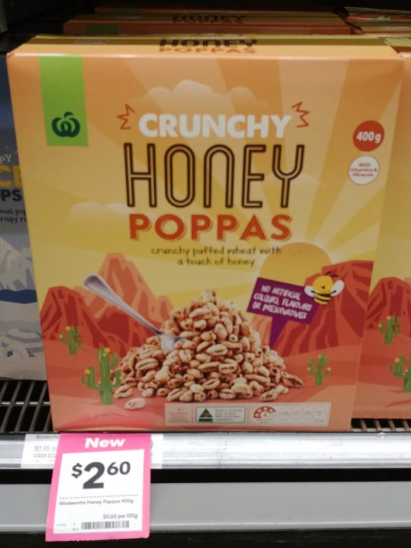 Woolworths 400g Cereal Crunchy Honey Poppas 7