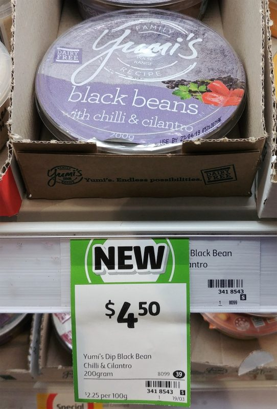 Yumi's 200g Dip Black Beans With Chilli & Cilantro