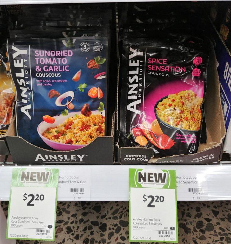 Ainsley Harriott 100g Cous Cous Sundried Tomato & Garlic, Spice Sensation