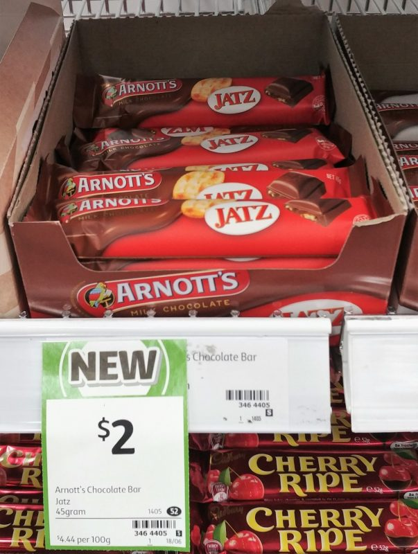 Arnott's 45g Milk Chocolate Jatz