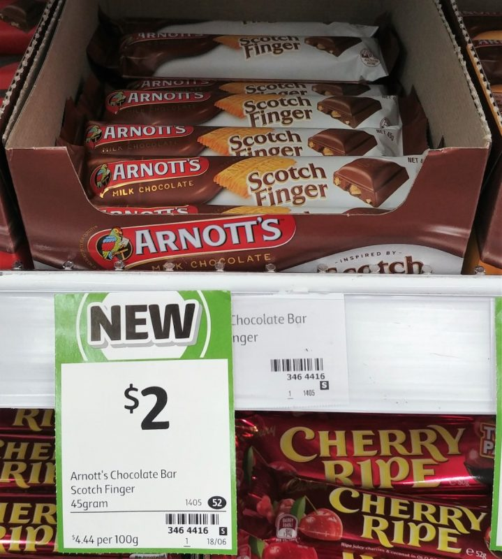 Arnott's 45g Milk Chocolate Scotch Finger