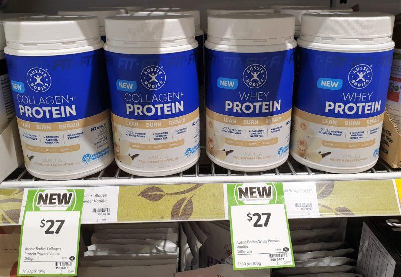 Aussie Bodies 360g Collagen + Protein Protein Shake Powder Vanilla, Whey Protein Vanilla