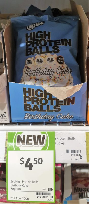 BSc 70g High Protein Balls Birthday Cake