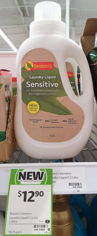 Bosisto's 1.2L Laundry Liquid Sensitive