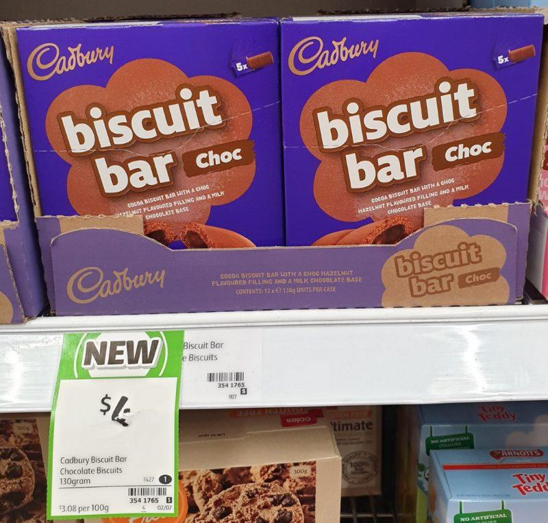 Cadbury 130g Biscuit Bar Choc