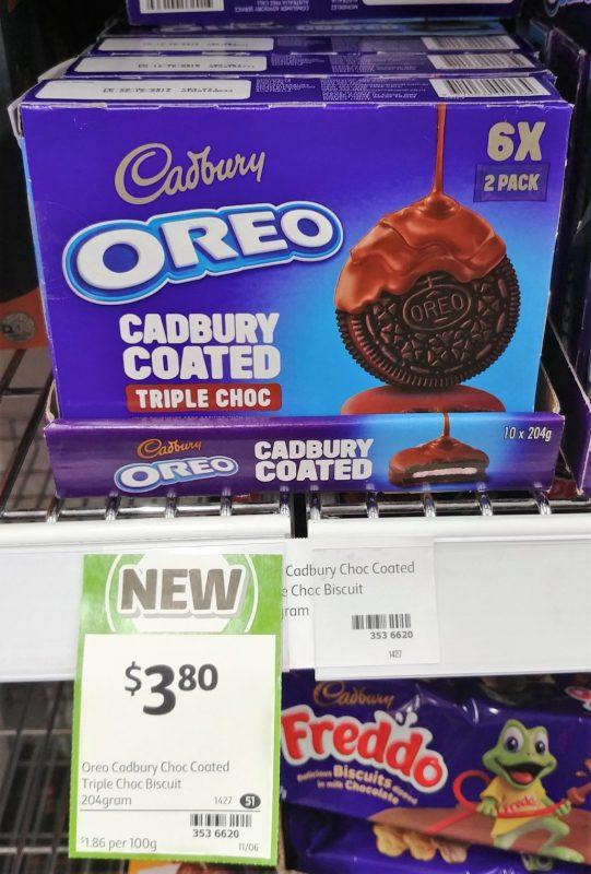 Cadbury 204g Oreo Cadbury Coated Triple Choc