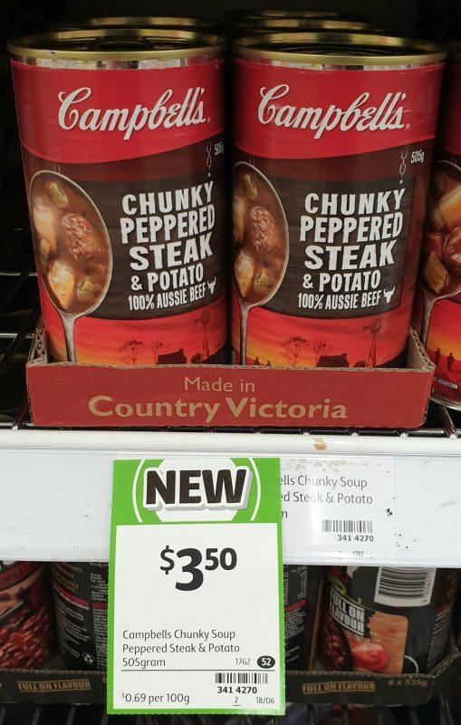 Campbell's 505g Soup Chunky Pepper Steak & Potato