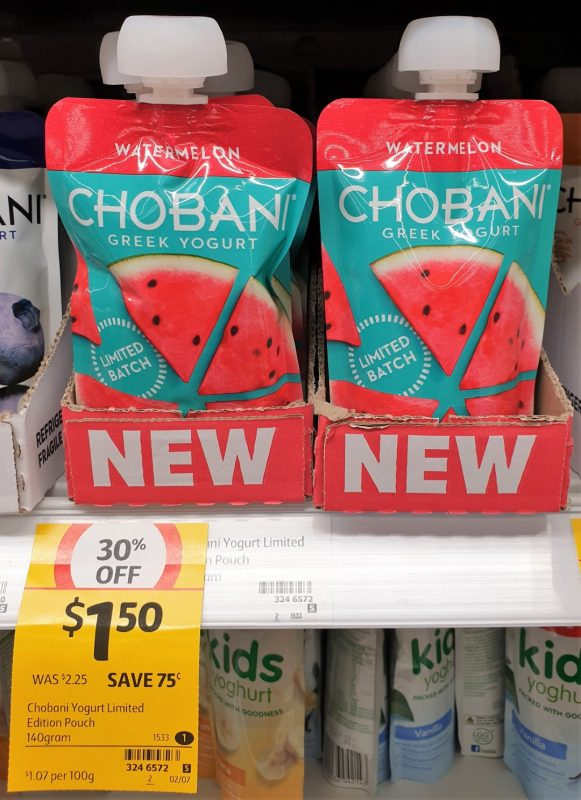 Chobani 140g Greek Yogurt Watermelon