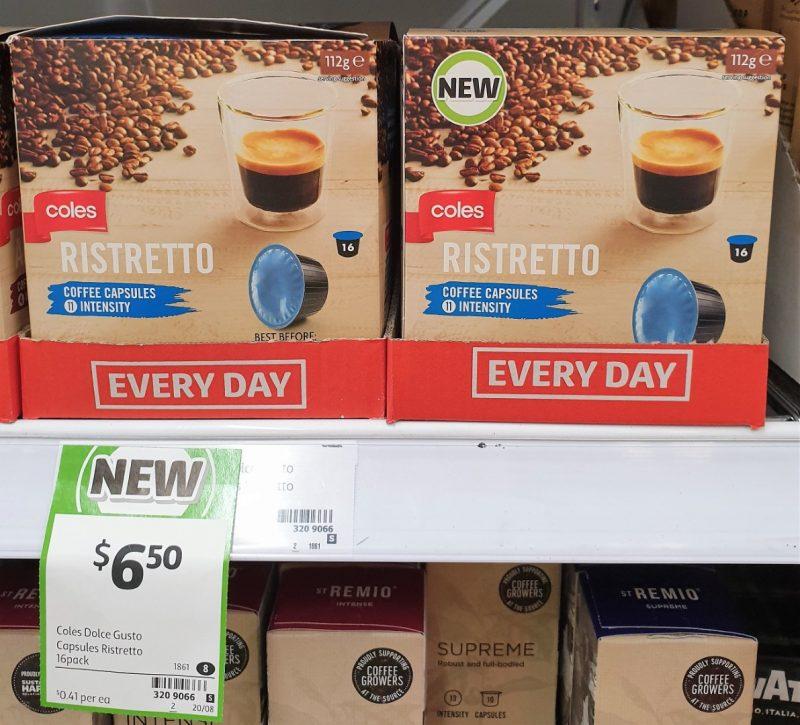 Coles 112g Coffee Capsules Ristretto