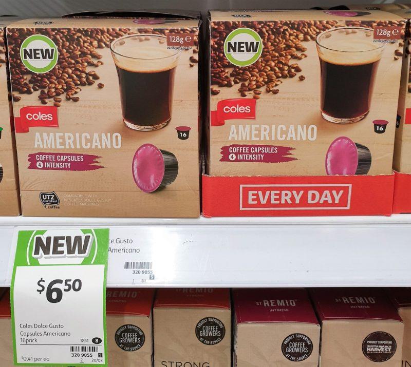 Coles 128g Coffee Capsules Americano