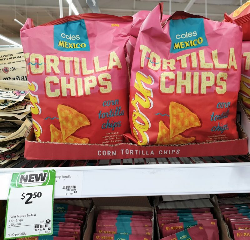 Coles 250g Corn Tortilla Chips