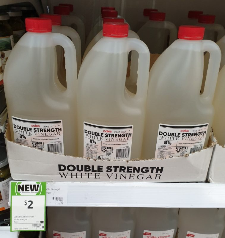 Coles 2L Vinegar Double Strength White