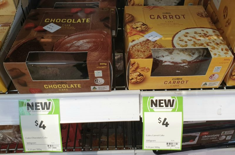 Coles 300g Cake Chocolate, Carrot
