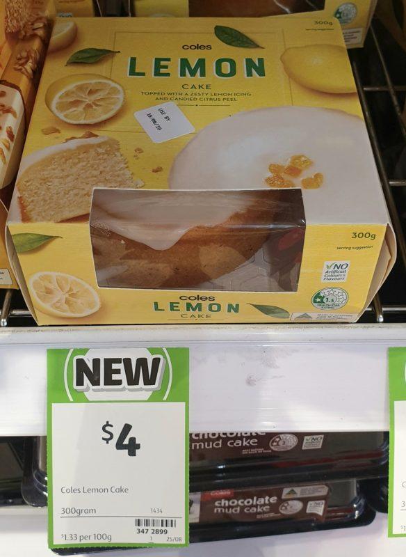 Coles 300g Cake Lemon