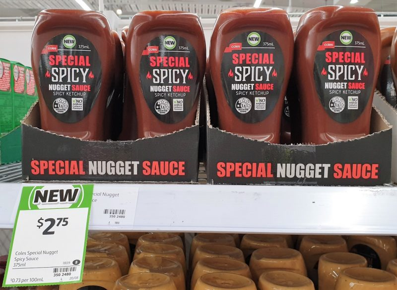 Coles 375mL Special Spicy Ketchup Spicy Nugget Sauce