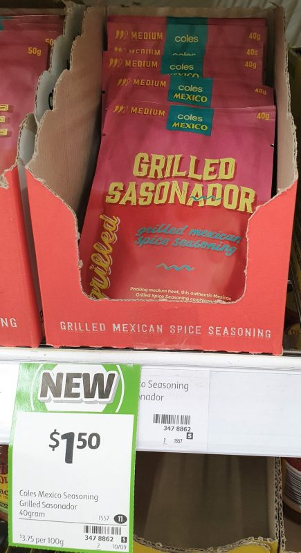 Coles 400g Mexico Seasoning Srilled Sasonador