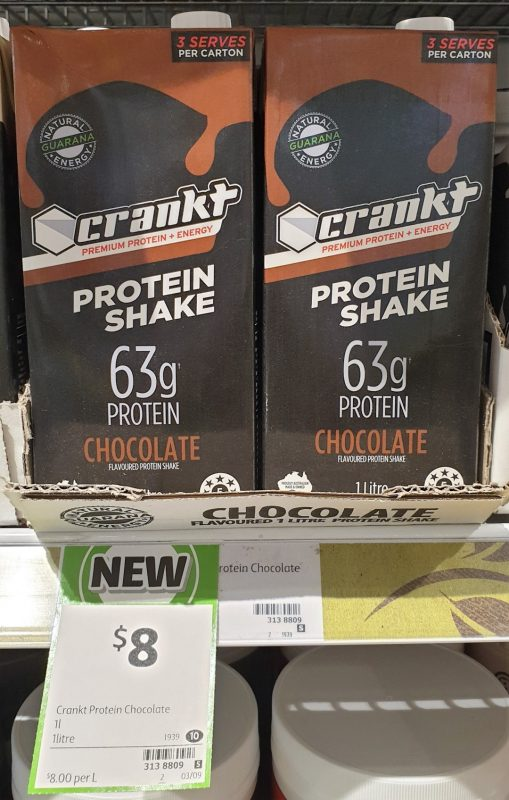Crankt 1L Protein Shake Chocolate Flavoured