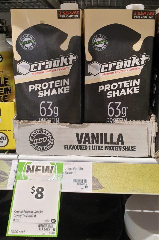 Crankt 1L Protein Shake Vanilla