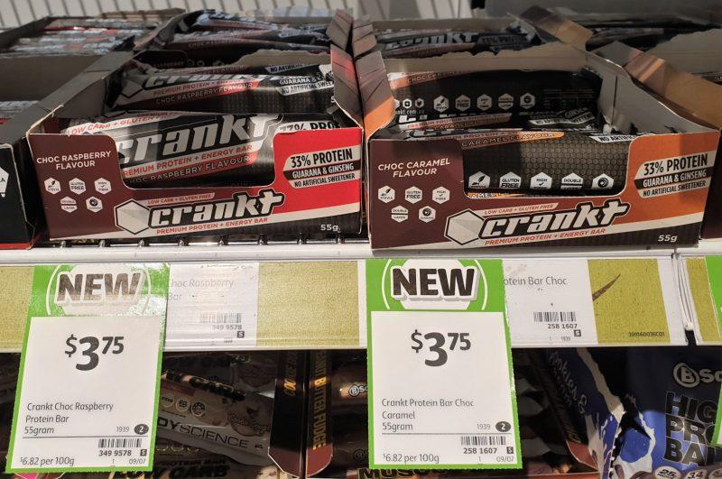 Crankt 55g Energy Bar Flavour Raspberry, Caramel