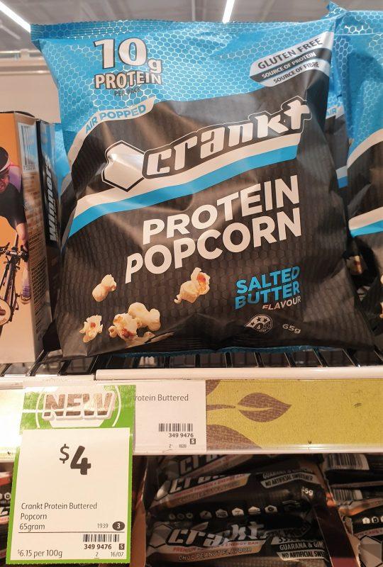 Crankt 65g Protein Popcorn Salted Butter Flavour