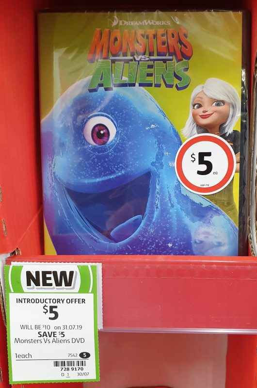 DVD 1 Pack Monsters Vs Aliens