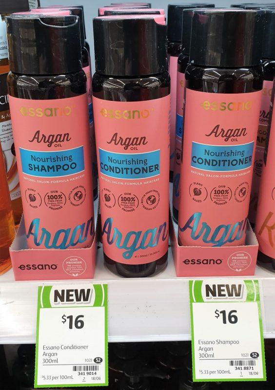 Essano 300mL Argan Oil Nourishing Shampoo, Conditioner