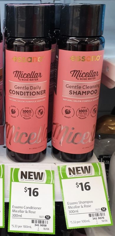 Essano 300mL Micellar & Rose Gentle Daily Conditioner, Shampoo