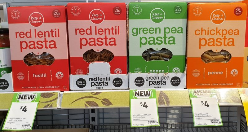 Keep It Cleaner 250g Pasta Fusilli Red Lentil, Penne Green Pea, Chickpea