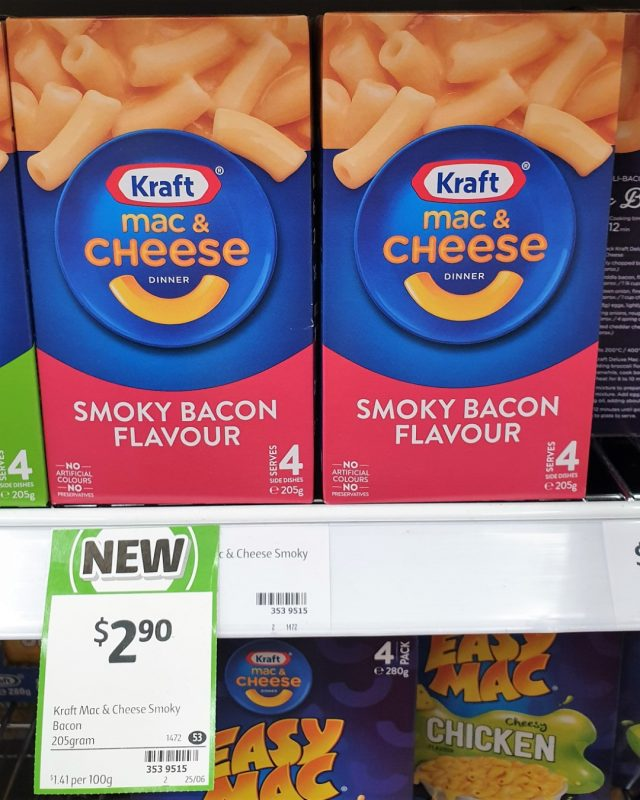 Kraft 205g Mac & Cheese Smoky Bacon Flavour