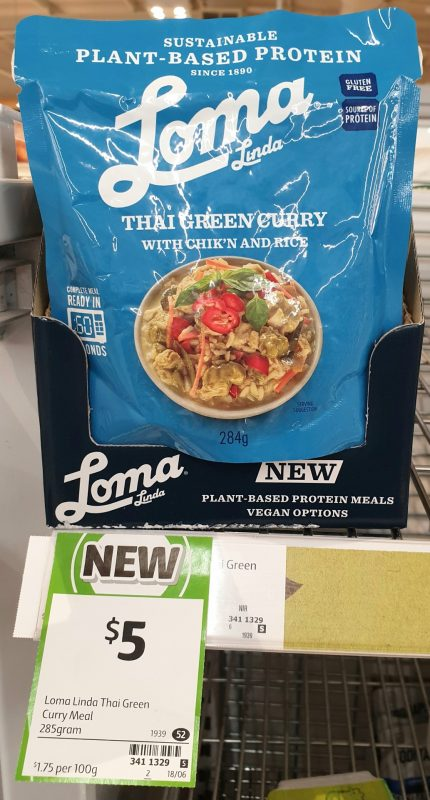 Loma Linda 285g Curry Thai Green