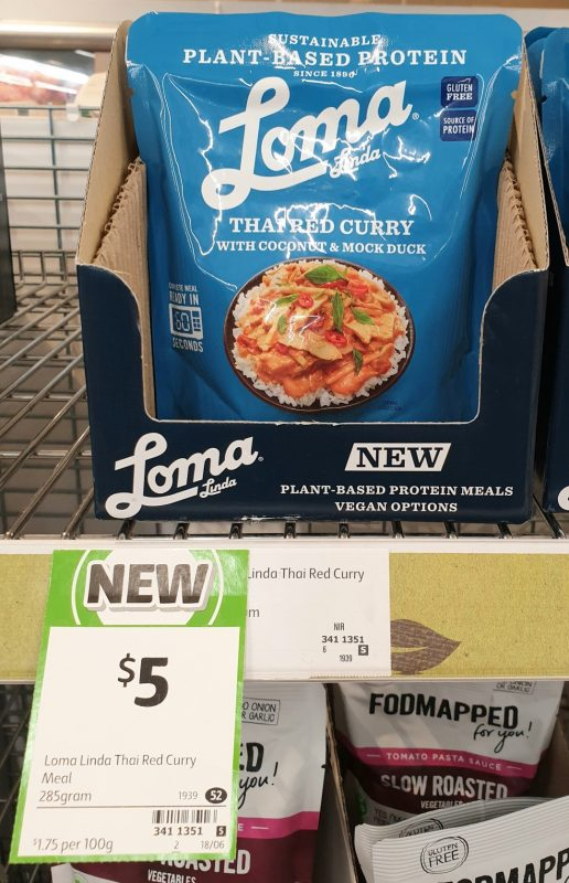 Loma Linda 285g Curry Thai Red