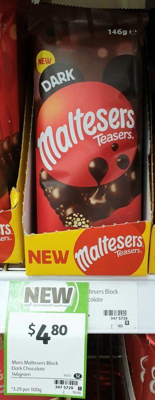 Mars 146g Maltesers Teasers Dark