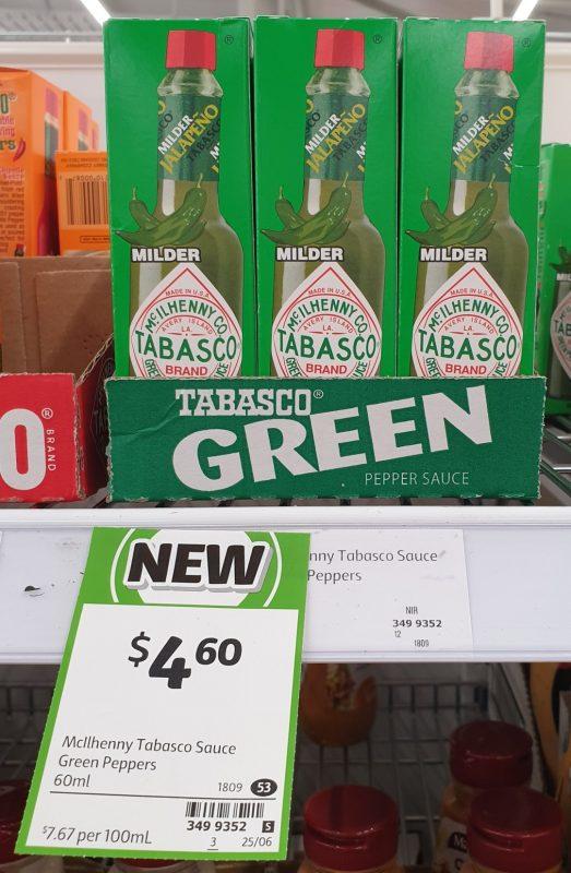 McIlhenny Co 60mL Tabsco Sauce Green Pepper