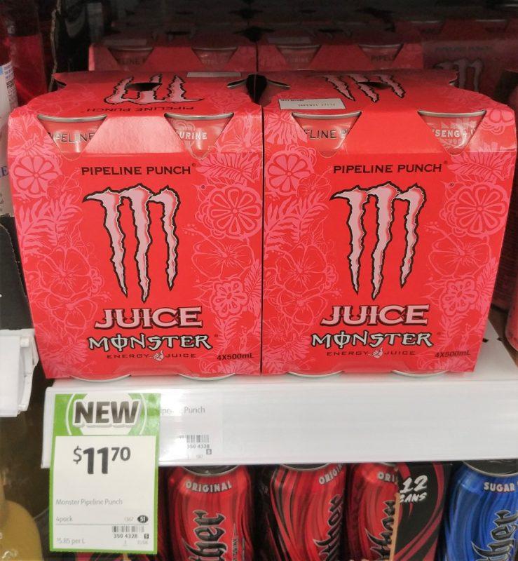 Monster 4 X 500mL Juice Pipeline Punch