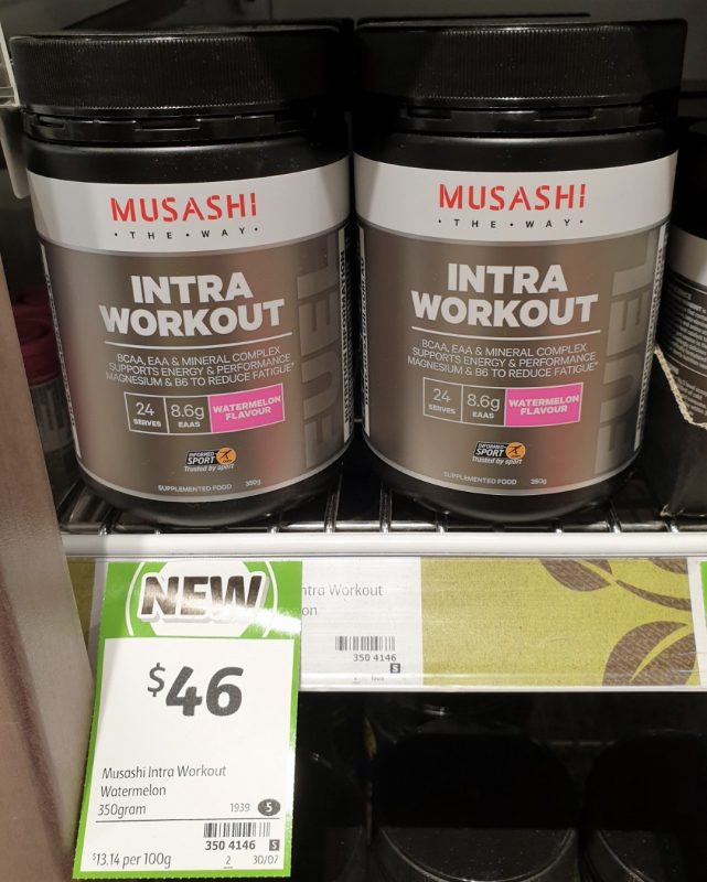 Musashi 350g Intra Workout Supplemented Food Watermelon Flavour