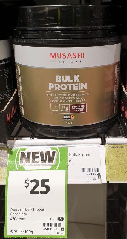 Musashi 420g Bulk Protein Chocolate Milkshake Flavour