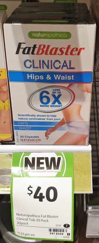 Naturopathica 30 Pack Fat Blaster Clinical Hips & Waist